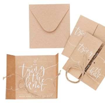 Tying The Knot, Save The Date Cards